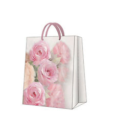 Printed Paper Gift Present Bag JULIA Pink Roses Violet Shabby Chic Drawing Large