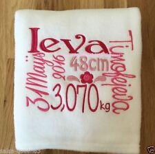 Handmade Personalised Nursery Blankets & Throws