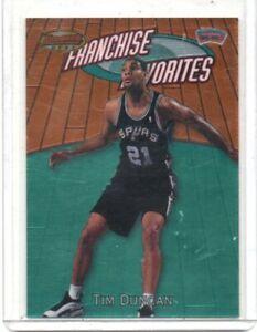 2000 Bowman Best Franchise Favorites Tim Duncan San Antonio Spurs FR1A  NMT