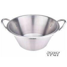 "16.5"" Comal Stainless Steel Para Carnitas Cazo Heavy Duty Caso Cooking Pot Pan"