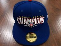 New Era Chicago Cubs 2016 World Series Champions 59Fifty 7 1/4 Fitted Hat Cap