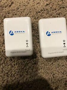 Asoka 200MB Portable Ethernet PlugLink PL9660-Q1 AV Adapter Set