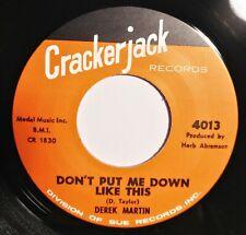 "45R✦DEREK MARTIN✦""Don't Put Me Down Like This/Daddy Rollin' Stone""60s R&B 2Sider"