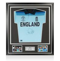 Joe Root Front Signed England Cricket Shirt In Classic Frame: 2019 ICC Cricket W