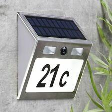 LED Solar Hausnummer Nummer mit Bewegungsmelder Bewegungssensor