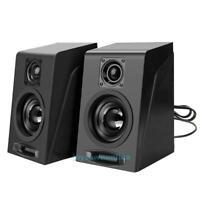 Stereo-Lautsprecher Subwoofer MIni Speaker Boxen PC Laptop USB+3.5mm AUX