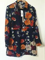 BNWT Soon Floral Chiffon Tunic Blouse Top Size 12