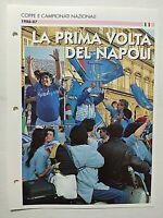 SCHEDA NAPOLI 1° SCUDETTO 1986-1987 DIEGO ARMANDO MARADONA DE AGOSTINI