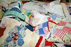 Vintage Handmade Patchwork Cutter Quilt Remnants Grab Bag One Half Pound