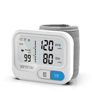 Automatic Digital Wrist Blood Pressure Monitor Heart Rate BP Meter Tonometer