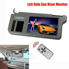 """9"""" Auto Car Sun Visor TFT LCD Dual Video Inputs Monitor with Remote Control Gray"""