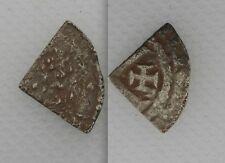 COLLEZIONISMO 1154-89 RE ENRICO II ARGENTO MARTELLATA taglio trimestre-tealby monete