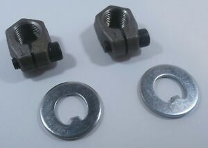 VW Front Spindle Nut & Washer Set Left & Right PAIR Axle Clamping Nuts
