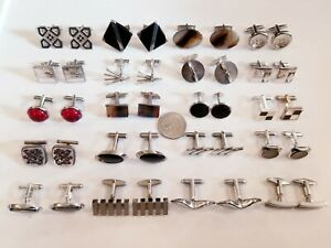 AWESOME Vintage Mod Cufflinks LOT Swank Sterling Anson 925 Mexico TM-216+