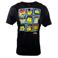 THE LEGO MOVIE CHARACTERS MEN'S T-SHIRT BENNY & WYLDSTYLE  NWT- BLACK- 2X-LARGE