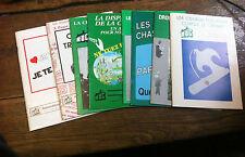 Lot de 8 livres les Rassemblement des Opposants à la Chasse