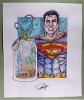 ORIGINAL ART  PRINT of SUPERMAN BOTTLE CITY OF KANDOR by SMITTY (SHIPS FREE)*