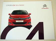 Citroen . C4 . New C 4 Range . September 2015 Sales Brochure