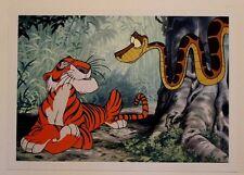 "Disney Art Print Lithograph 10""x14"" The Jungle Book Shere Khan & Kaa the Snake"