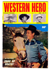 WESTERN Hero #91 in VF- condition a 1948 FAWCETT Golden Age Comic with TOM MIX