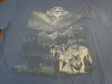 Outdoor Life   The Sportsman's Authority  Blue T  Shirt   2XL   K10