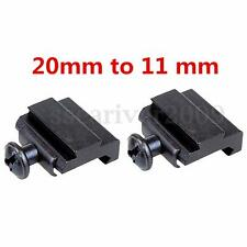 20mm to11mm Adapter Rail Harris Rifle Bipod Mount For Weaver Picatinny Dovetail