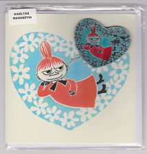 "Moomin  Postcard ""Tove 100"" , 2 side with Envelope and Magnet ,Little My"
