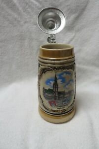 German Beer Stein Hamburg Handmade Mug
