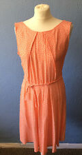 K&D London dress size 14 Coral With White Spots New With Tags