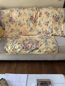 Ralph Lauren KATHLEEN, Brook, Sophie, Pillow Cases 4 Vintage Rose Linens Fabric