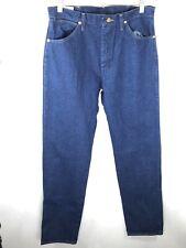 Men's Wrangler Blue Original Fit Over Boot Cowboy Cut Denim Jeans Size 33x38 NWT
