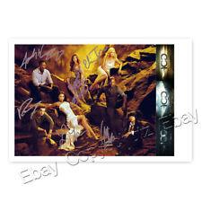 The 100 Cast Autogramm Eliza Taylor und Anderen - Autogrammfotokarte laminiert