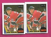2 X 1987-88 OPC # 235 CANADIENS BRIAN SKRUDLAND  ROOKIE NRMT-MT CARD(INV# C4232)