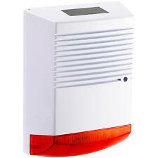 Alarmanlage Attrappe: Alarmsirenen Attrappe mit Solar & Blinklicht, IP44