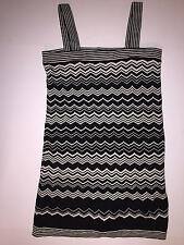 MISSONI for Target Black White Chevron Striped Sweater Fabric Dress XS