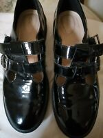 Flat Black Ladies Shoes Size UK 6.5 by clarks