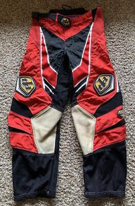 TLD Troy Lee Designs BMX race racing pants size 34 red/black bike cycling Vtg