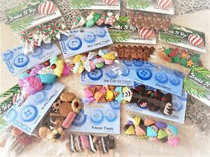 Dress It Up Buttons - CHRISTMAS CANDY LOLLY COOKIE ICE DONUT POP  *See Offer*