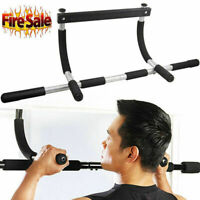 Doorway Pull Up Bar Chin Up Sit-Up Strength Body Workout Exercise Fitness Gym US