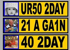 Personalised Birthday Gift, Novelty Photo Number Plate Own Photo Plaque