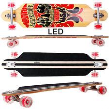 Longboard FunTomia® LED 9 Lagen Ahornholz - Freerider Cruiser Skate Board 2122
