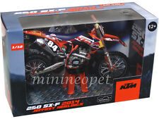 AUTOMAXX 600063 RED BULL 2014 KTM 250 SX-F DIRT BIKE 1/12 JEFFREY HERLINGS #84