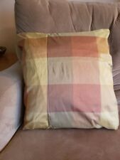 Silk Plaid Decorative Pillow,brown,gold,rust,neutral 18x18.Handmade,options avai