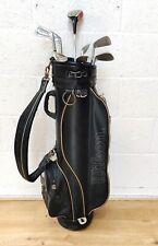 Mens Half Set Of Vintage Right Hand RH Golf Clubs Dunlop Irons Wilson Bag &Xtras