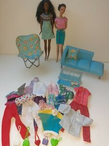 Lot Vintage 90s Barbie Furniture and clothes