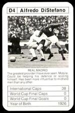ACE Bobby Charlton's World Cup Aces 1978 Alfredo Di Stefano No. D4.
