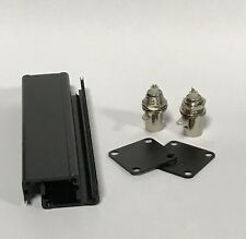 Black Aluminum Box with two BNC Female  Connectors (102x24.9x24.9mm)