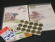 Vintage Holly Hobbie Stationery Brightnotes Postalettes 14 notes 15 seals Rare
