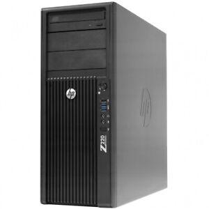 HP Z220 Workstation Core i7-3770S 3.10GHZ 32GB 500GB SSD Win 10 Pro