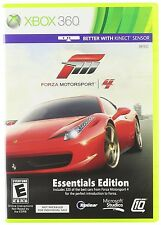 FORZA MOTORSPORT 4 ESSENTIALS EDITION XBOX 360 NEW! ALSO WORKS W/ KINECT! CAR